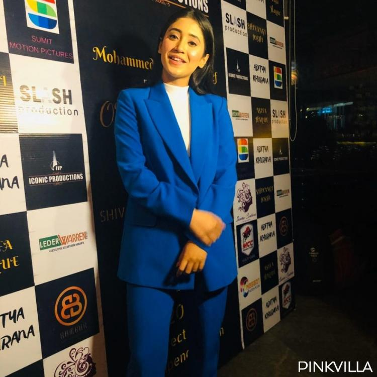 PHOTOS: Shivangi Joshi stuns in a blue pantsuit as she attends the launch of her debut film 'Our Own Sky'