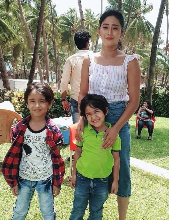 Yeh Rishta Kya Kehlata Hai: Shivangi Joshi bonds with her reel life son and it is too cute for words
