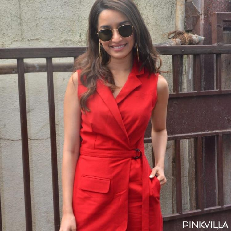 PHOTOS: Shraddha Kapoor dons a chic red pantsuit as she steps out in the city