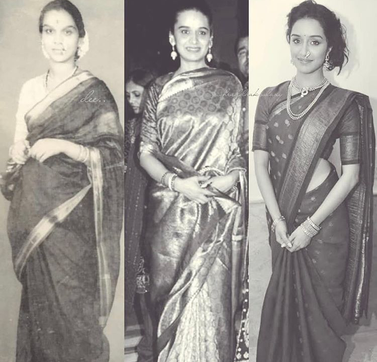 Shraddha Kapoor twinning in a saree with grand mom & mom prompts fans to call her their mirror image