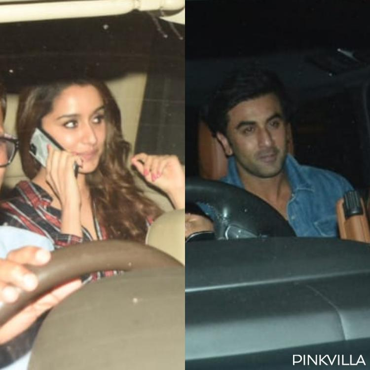 PHOTOS: Ranbir Kapoor and Shraddha Kapoor flash beaming smiles as they visit Luv Ranjan's residence