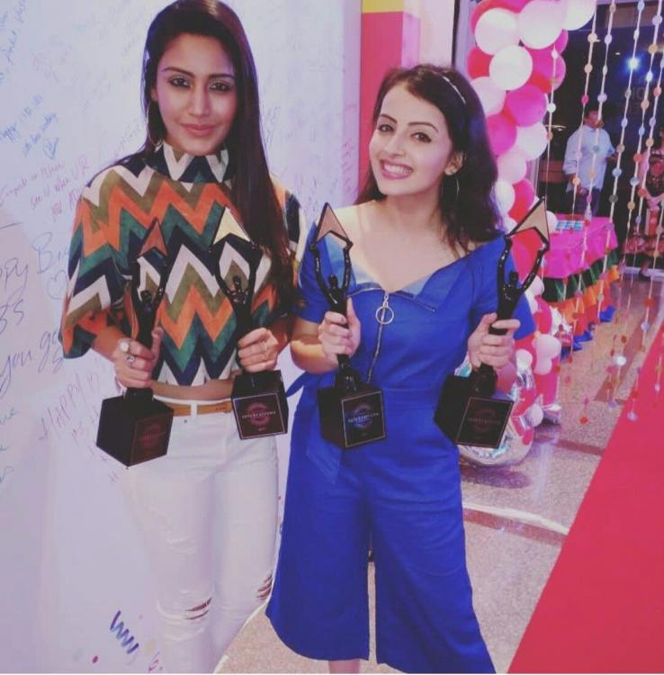 Surbhi Chandna congratulates her Ishqbaaaz co star Shrenu Parikh for the new show with this cute message