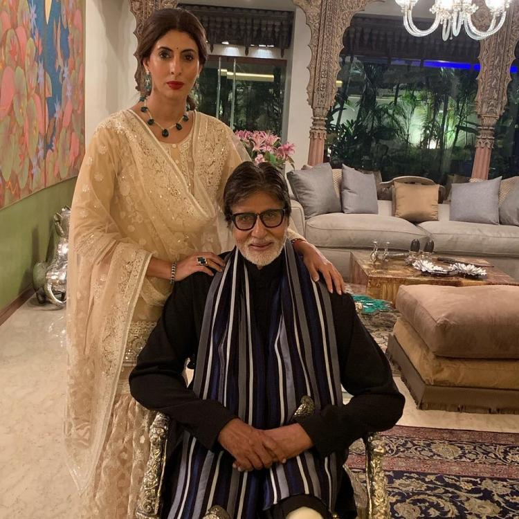 Amitabh Bachchan wanting to record Shweta Bachchan's ramp walk at a recent show is every father ever; WATCH