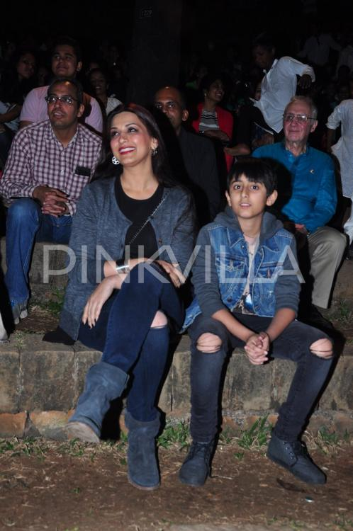 Sonali Bendre and son Ranveer Support a Good Cause ...