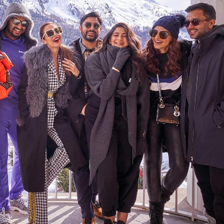 Sonam K Ahuja posing with Malaika Arora and Arjun Kapoor is a proof that all is well between them; see pic