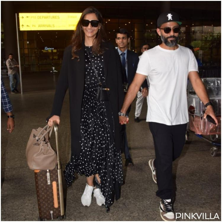 PHOTOS: Sonam Kapoor Ahuja & Anand Ahuja are all smiles at the airport as they are back to the bay from London
