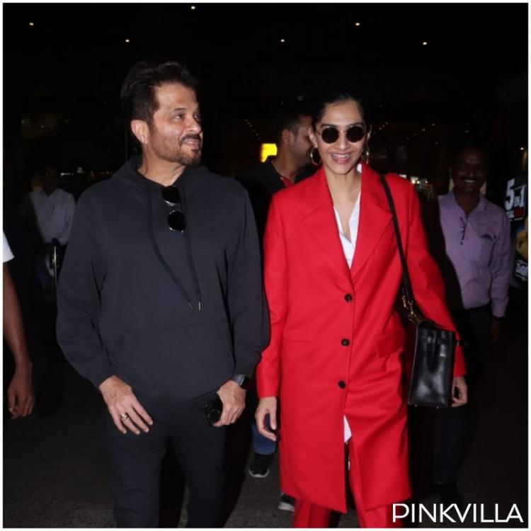 Airport Diaries: Sonam K Ahuja and father Anil Kapoor make a stylish return to the bay