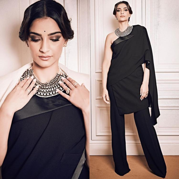 Sonam Kapoor in a Jean Paul Gaultier saree tuxedo is the perfect way to revamp the classic silhouette
