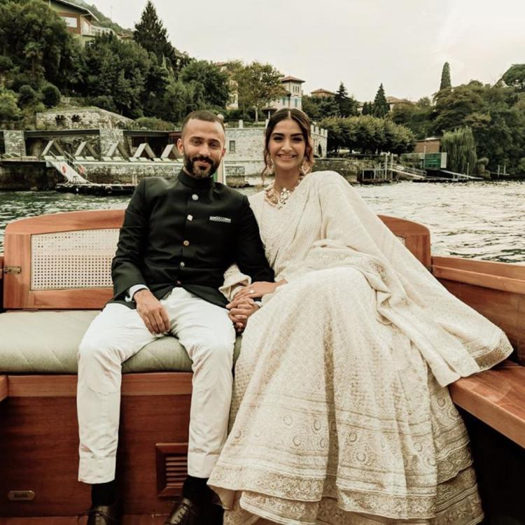 Sonam K Ahuja celebrates 'love' with Anand Ahuja as the two pose for a cute picture; Check it out