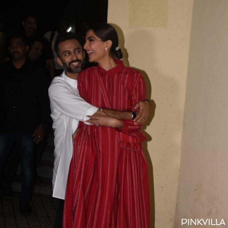 PHOTOS: Anand Ahuja holds onto Sonam K Ahuja at The Zoya Factor's screening and it is adorable