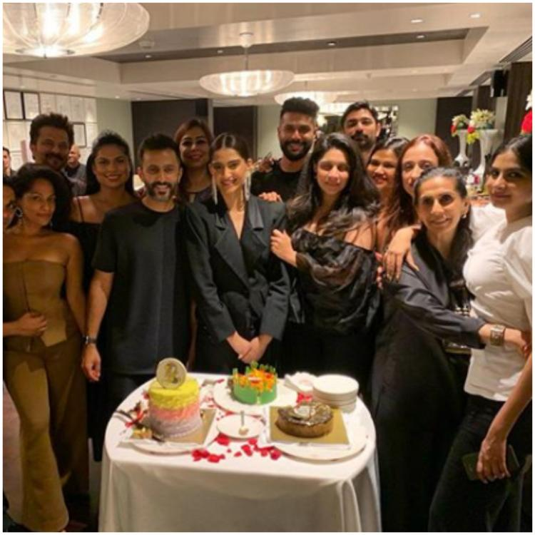 Sonam Kapoor rings in her birthday with Anand Ahuja, Anil Kapoor & others; check out inside photos and videos