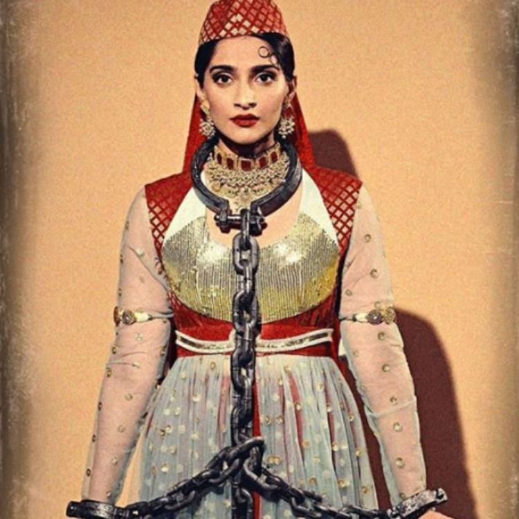 Sonam Kapoor channels her inner Anarkali as she gives a 'desi' twist to her Halloween costume; View PICS