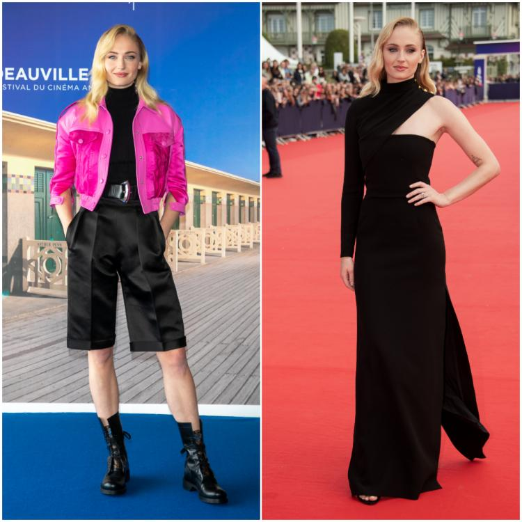 Sophie Turner rocks two contrasting Louis Vuitton outfits and we cannot take our eyes off her