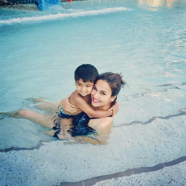 Soundarya Rajinikanth deletes her swimming pool photos with son Ved; Here's why