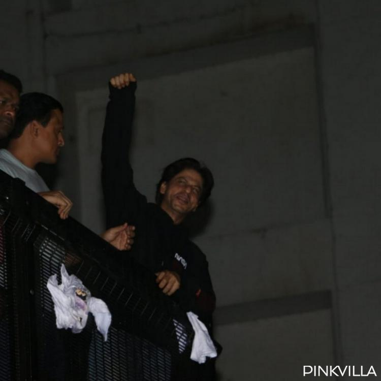 Happy Birthday Shah Rukh Khan: The actor greets fans outside Mannat at midnight
