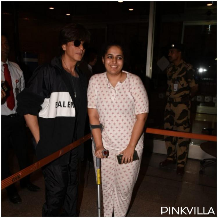 Airport Diaries: Shah Rukh Khan proves to be a charmer once again; stops by to pose with a fan