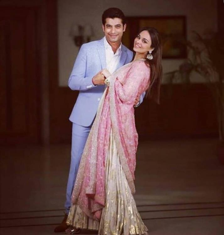 Ssharad Malhotra and Ripci Bhatia make for a dreamy couple in this picture from their Roka ceremony