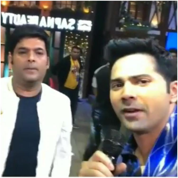 Street Dancer 3D: Varun Dhawan and Shraddha Kapoor have a gala time shooting for The Kapil Sharma Show; WATCH