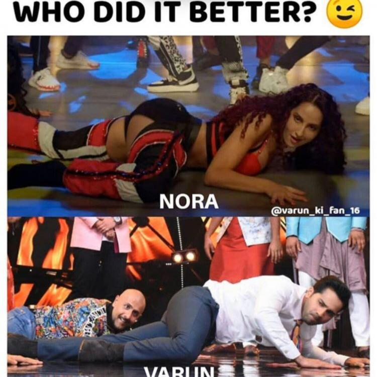 Street Dancer 3D: Varun Dhawan gives his dance face off with Nora Fatehi a humorous twist; Check it out