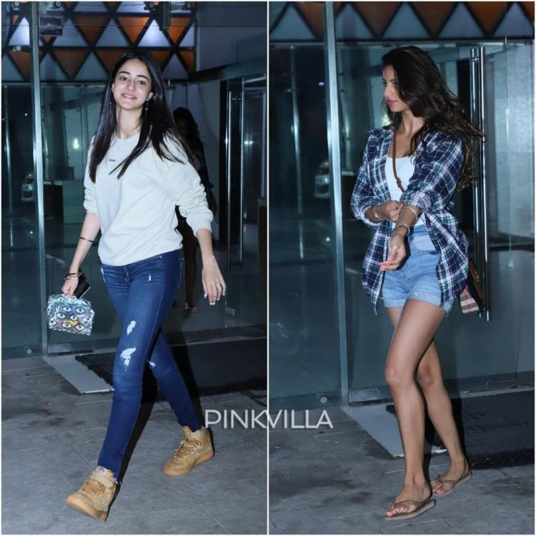 PHOTOS: Ananya Panday & Suhana Khan leave BFF Shanaya Kapoor's home with a toothy grin