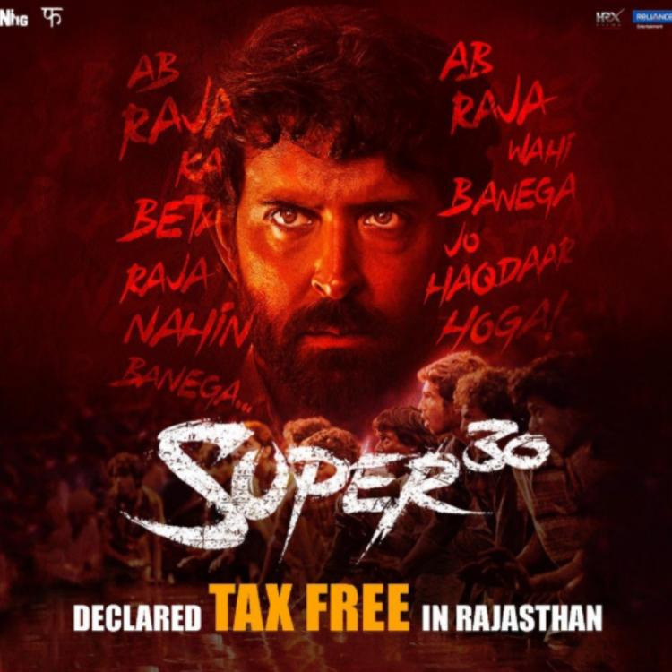Super 30: After Bihar, Hrithik Roshan's film declared tax free in Rajasthan