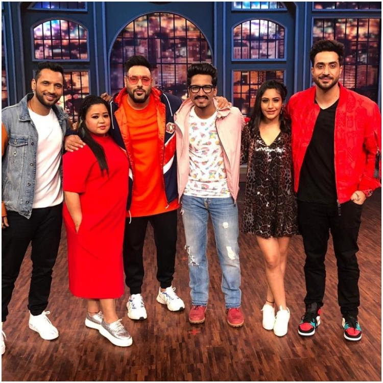 Surbhi Chandna, Badshah join Bharti Singh and Haarsh Limbachiyaa on their show Khatra Khatra Khatra; See Pic