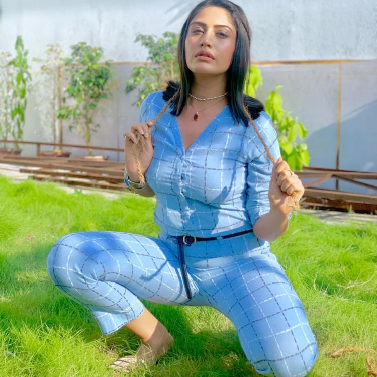 Sanjivani 2's Surbhi Chandna's style game is on point as she dons a breezy blue number; Check it out