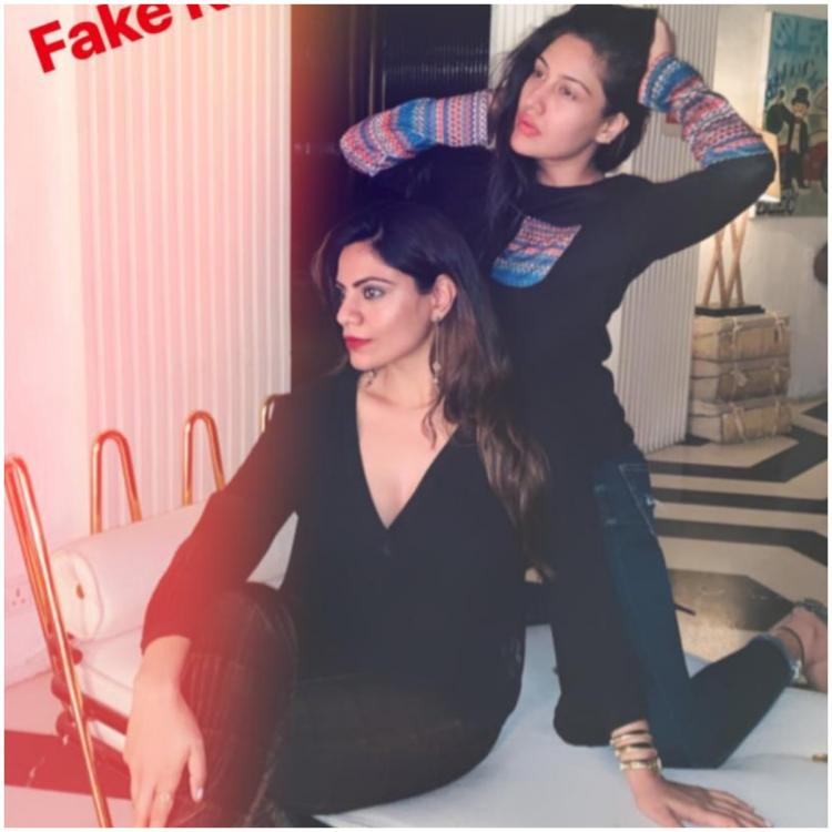 Ishqbaaaz actress Surbhi Chandna poses with her sister; calls their duo the 'Fake Kardashian sistas'