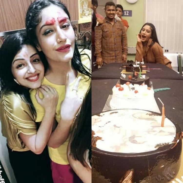 PHOTOS: Surbhi Chandna parties hard with Ishqbaaaz and Sanjivani 2 co stars on her birthday