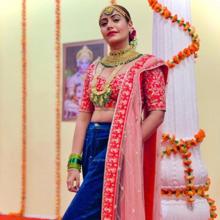 Surbhi Chandna gives a modern twist to the classic lehenga & we are loving it; See Pics