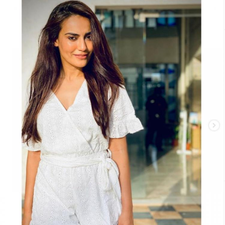 Naagin 3 actress Surbhi Jyoti looks as dreamy as her caption in a white romper; See PHOTOS