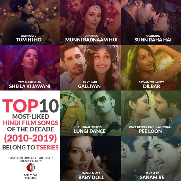 Bhushan Kumar's T Series sets new benchmark after its songs feature in most liked Hindi film songs of decade
