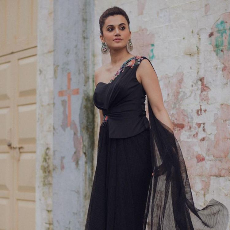Mission Mangal: Taapsee Pannu goes all black in Tarun Tahiliani; Yay or Nay?