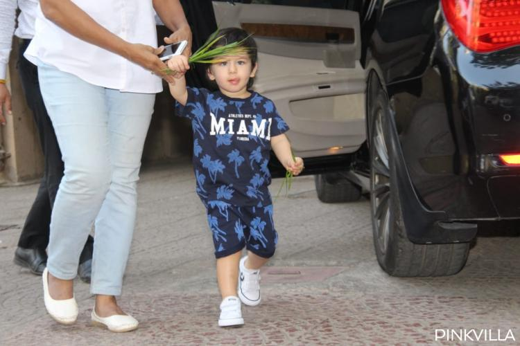 Today, Taimur Ali Khan stepped out of his house rocking a Miami Tee