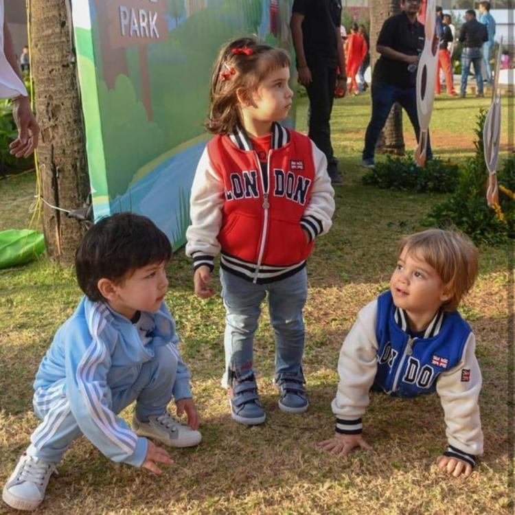 Photos: Taimur Ali Khan, Yash Johar and Roohi Johar all in one frame has our hearts melting