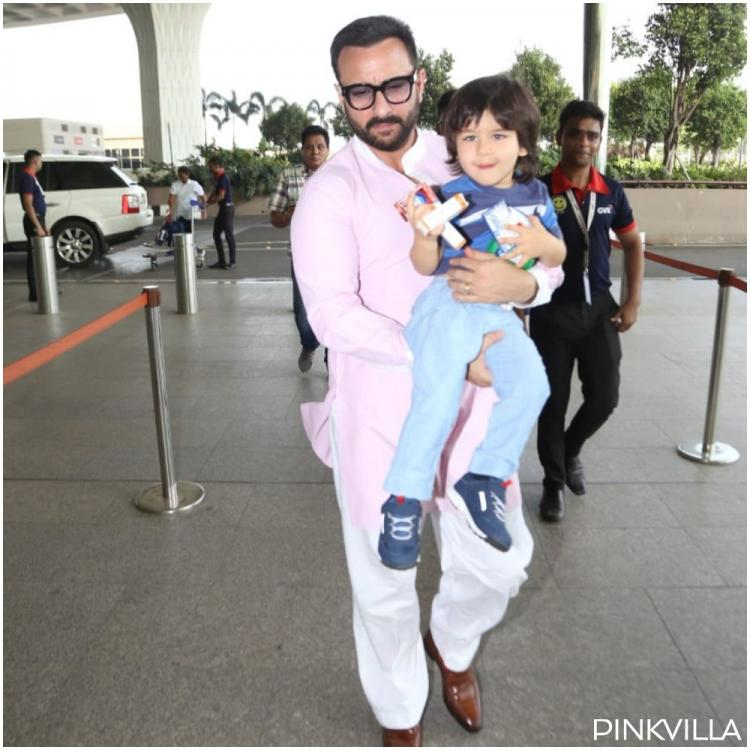 Taimur Ali Khan has his munchies in check as he joins Saif Ali Khan at the airport; See Pics