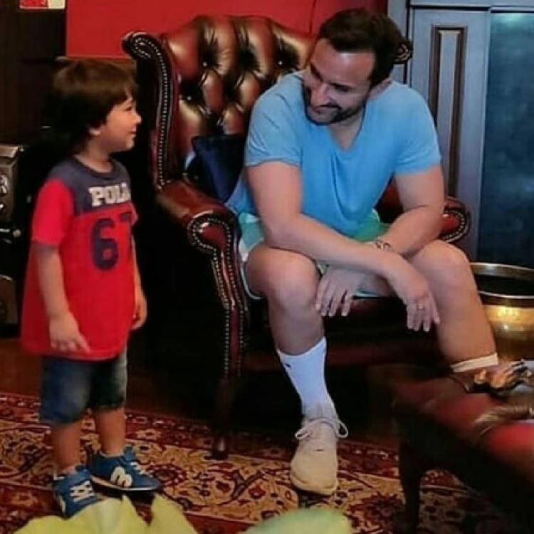 Taimur Ali Khan looks at dad Saif Ali Khan in an endearing photo and fans are all hearts for him; Check it out