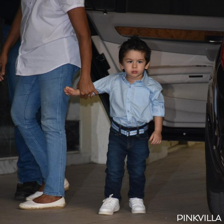Taimur Ali Khan looks all grown up and poses like a dude to the shutterbugs; See Pics