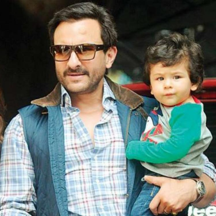 Taimur Ali Khan steals the limelight from dad Saif Ali Khan as he joins him during a live interview; WATCH