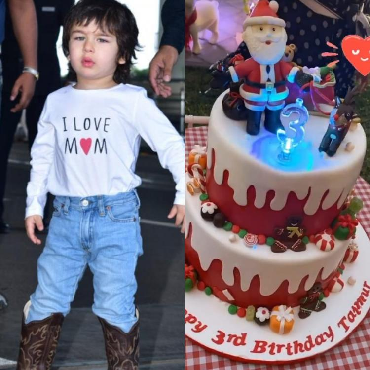 Kareena Kapoor Khan and Saif Ali Khan's munchkin Taimur Ali Khan cuts Christmas themed birthday cake; View PIC