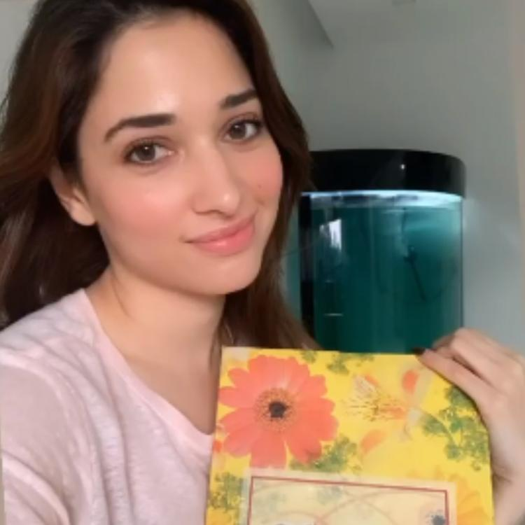 Tamannaah Bhatia relives her childhood memories as she dusts out an old photo album; Watch VIDEO