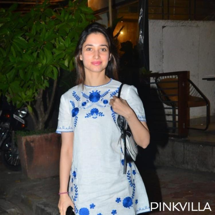 PHOTOS: Tamannaah Bhatia looks chic in a printed white dress as she makes a stylish appearance in the city