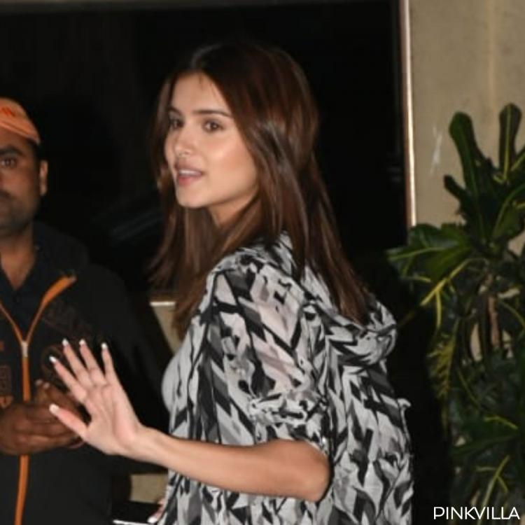 PHOTOS: Tara Sutaria is making heads turn in her chic black outfit as she visits Ranbir Kapoor's residence
