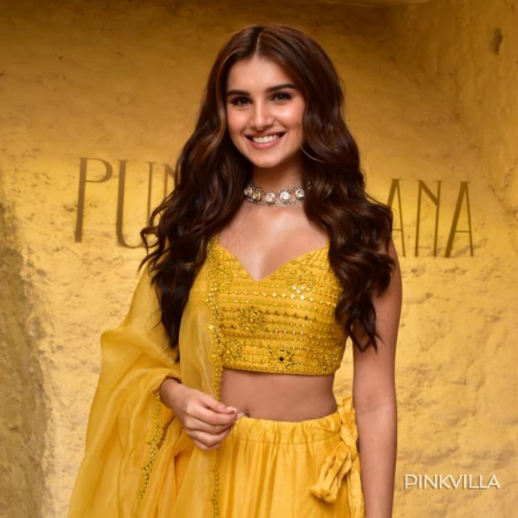 Tara Sutaria makes the sun envious as she shines bright in a yellow lehenga; Check out the pictures