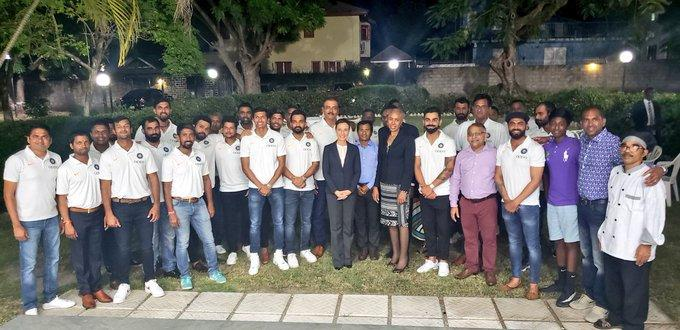 Team India attends official team dinner at Indian High Commissioner's residence in Jamaica