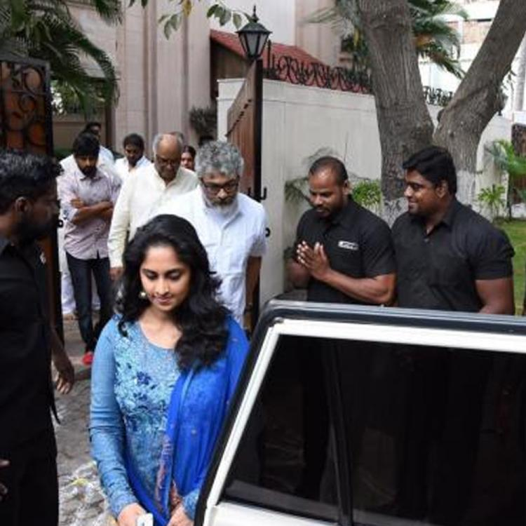Photos: Thala Ajith attends Sridevi's 1st death Anniversary Puja with Boney & Anil Kapoor in Chennai