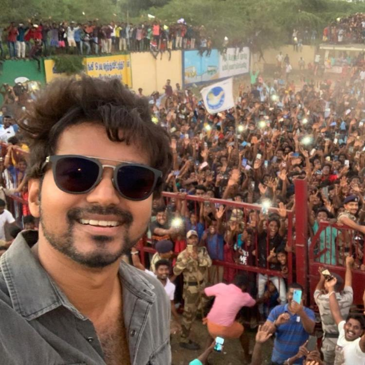Thalapathy Vijay clicks selfies with fans as they cheered for the actor on the sets of Master; Watch Video