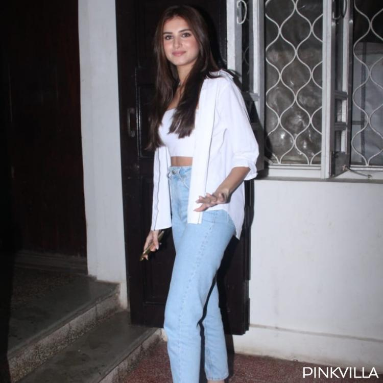 PHOTOS: Tara Sutaria nails the classic white on blue denim look as she arrives for a shoot