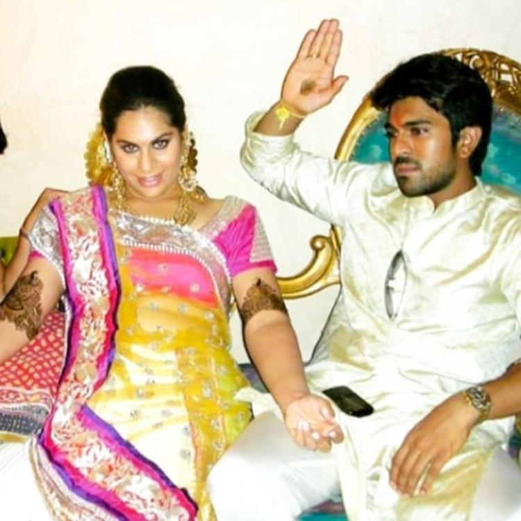 Throwback: Ram Charan sitting beside Upasana in a candid picture from their wedding is super adorable
