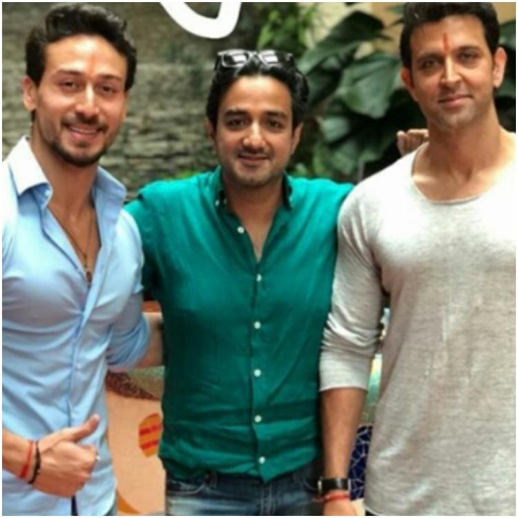 War star Tiger Shroff shares a pic with his 'on screen guru' Hrithik Roshan & birthday boy Siddharth Anand